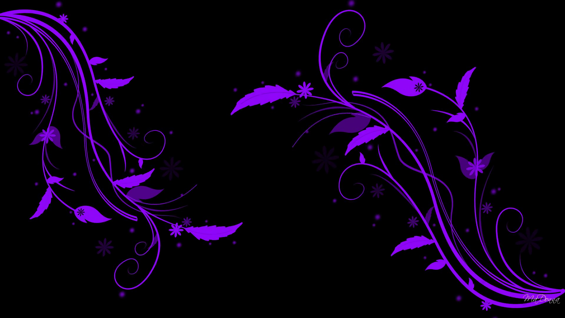 Purple Leaf Abstract Full HD Wallpaper And Background Image