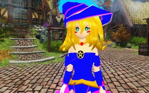 Video Game Crossover Dark Magician Girl Skyrim HD Wallpaper   Background Image