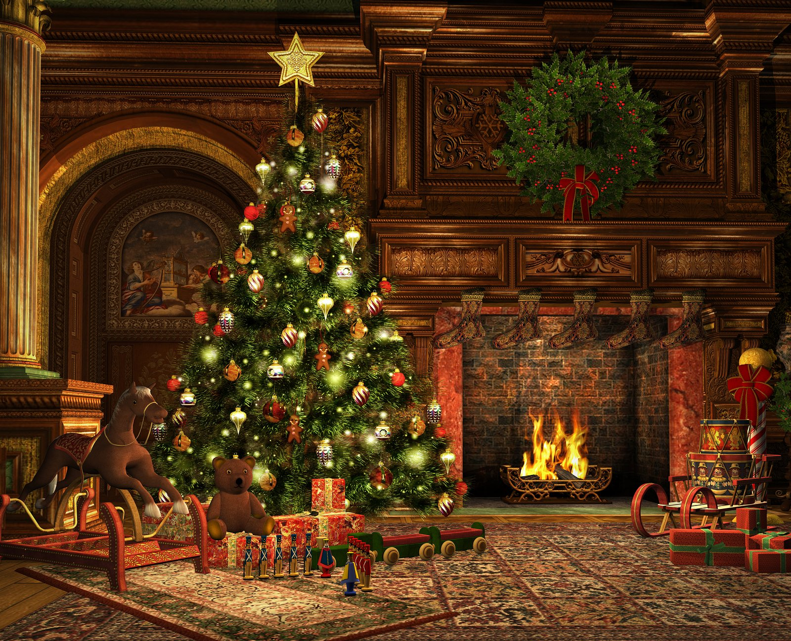 Christmas Eve Wallpaper and Background 1600x1296