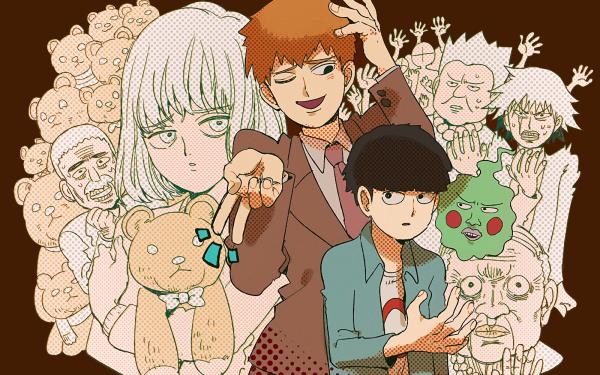 Anime Mob Psycho 100 Shigeo Kageyama Arataka Reigen Ekubo HD Wallpaper | Background Image