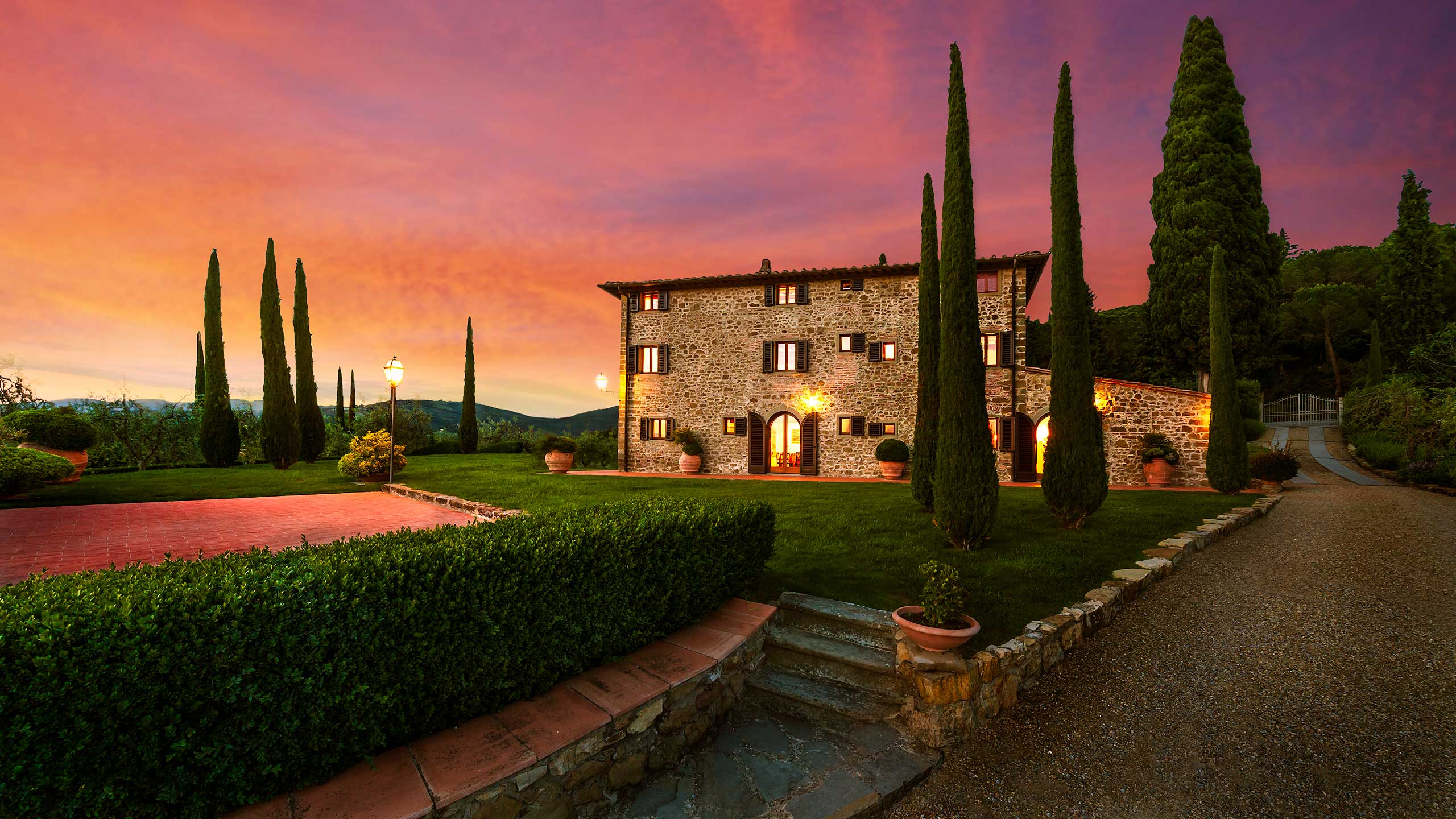 Mansion in tuscany italy hd wallpaper background image for Made com italia