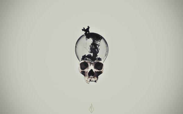 Dark Skull Light Bulb HD Wallpaper | Background Image
