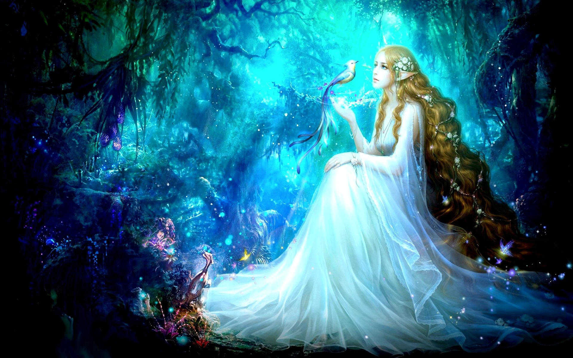 Fantasy Art Elves Wallpapers Hd Desktop And Mobile: Forest Fantasy Elf HD Wallpaper