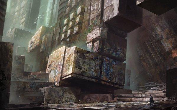 Fantaisie Ruine Guerrier Pierre Fond d'écran HD | Arrière-Plan