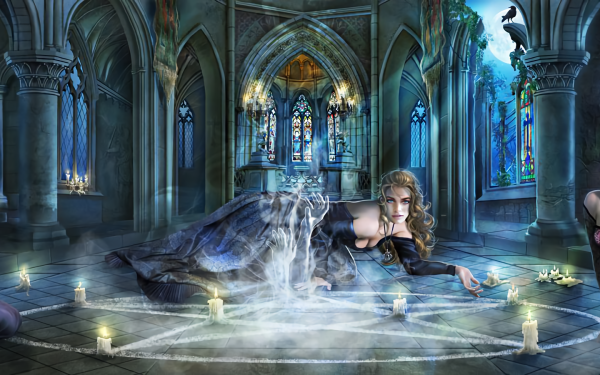Fantasía Mujeres Gótico Ghost Vela Oculto Fondo de pantalla HD | Fondo de Escritorio