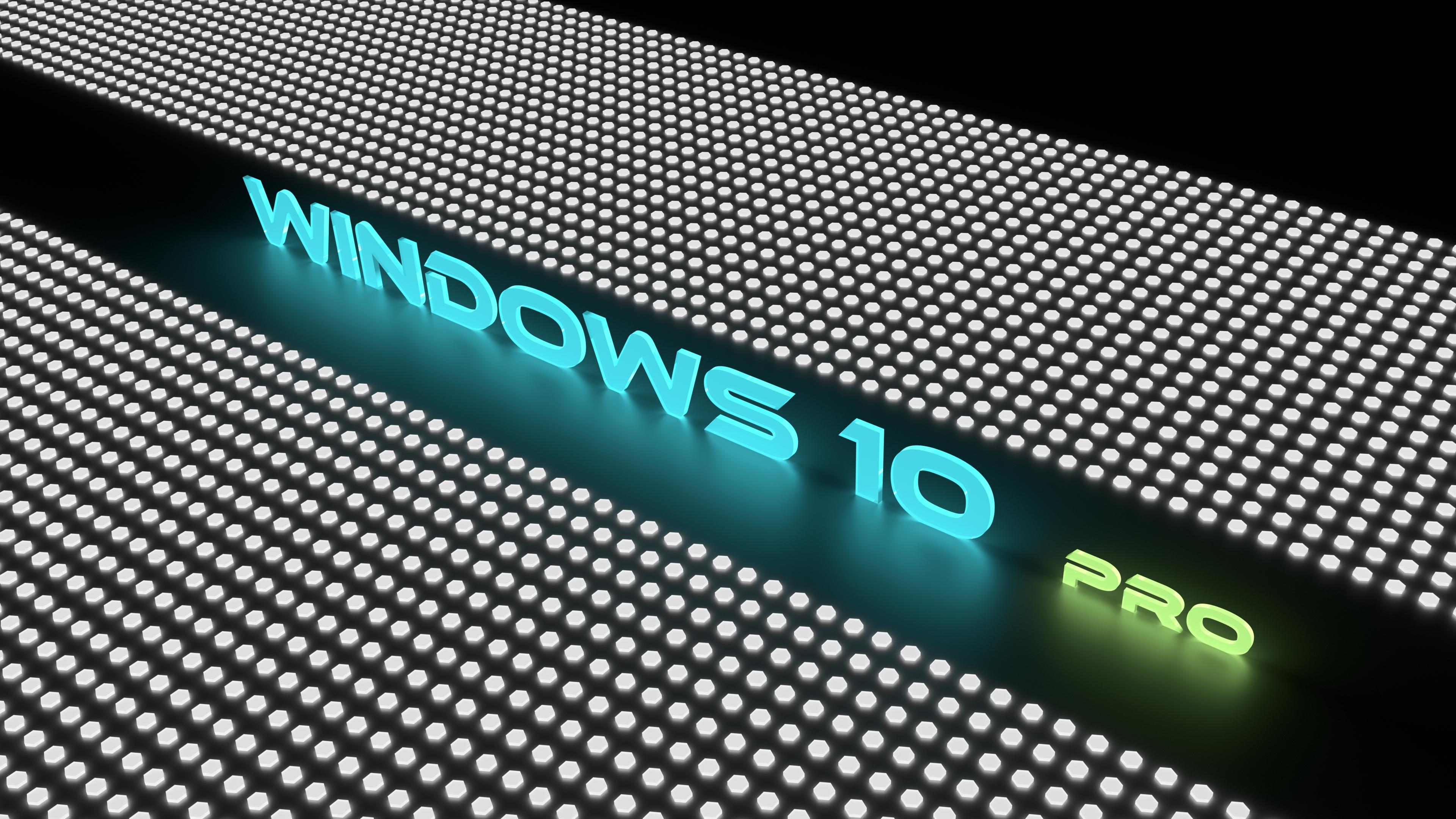 Windows 10 Pro Glow Blue 2 4k Ultra Hd Wallpaper