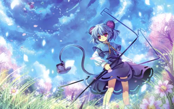 Anime Touhou Nazrin Reimu Hakurei HD Wallpaper   Background Image