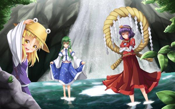 Anime Touhou Sanae Kochiya Suwako Moriya Kanako Yasaka HD Wallpaper | Background Image
