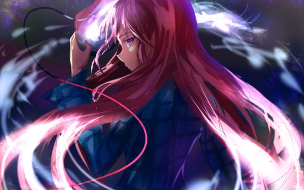 Anime Touhou Hata no Kokoro Pink Hair Mask HD Wallpaper | Background Image