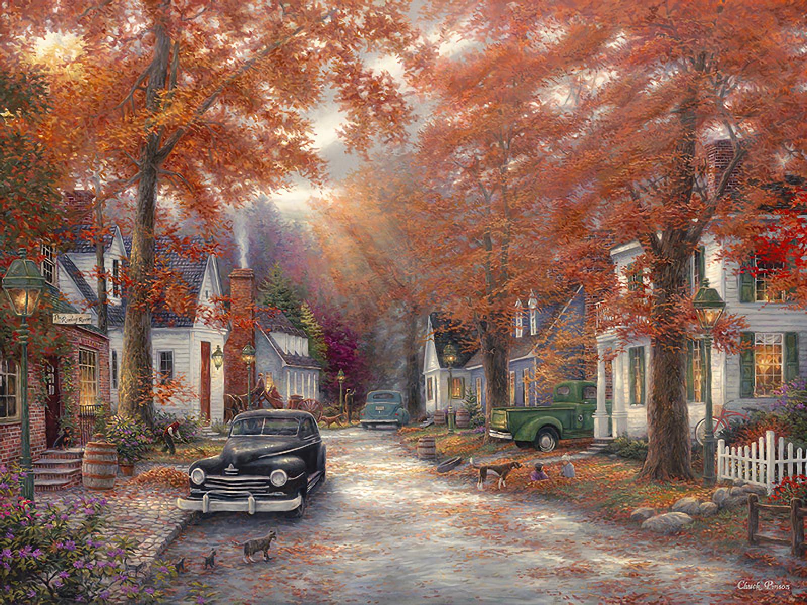 Vintage Autumn Fondo De Pantalla And Fondo De Escritorio