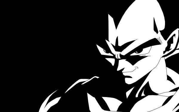 Anime Dragon Ball Z Dragon Ball Vegeta Black & White HD Wallpaper   Background Image