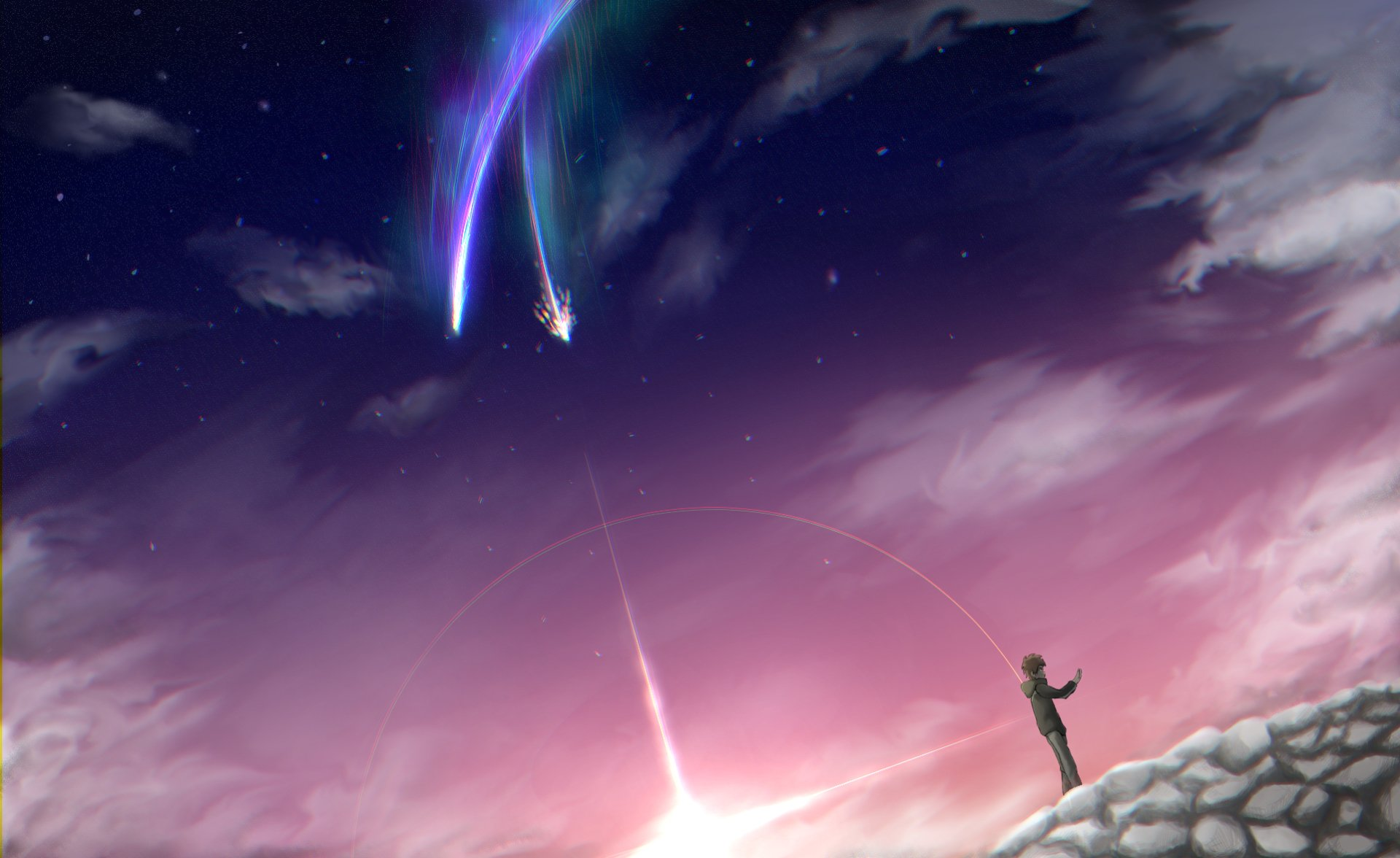 Your Name. HD Wallpaper | Background Image | 1923x1178 ...