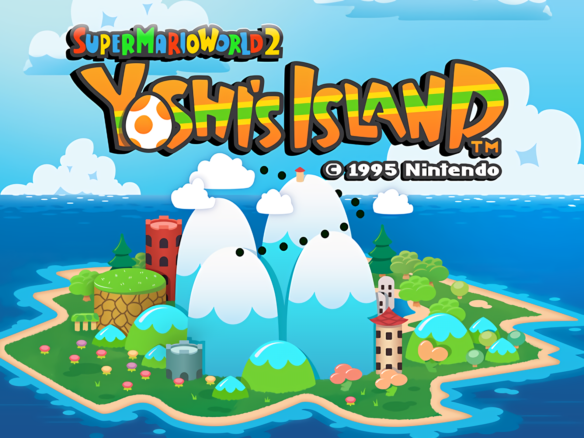 Videospel - Super Mario World 2: Yoshi's Island  Wallpaper