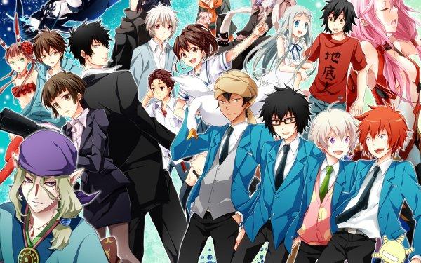 Anime Crossover Guilty Crown Psycho-Pass Black Rock Shooter No. 6 Anohana Fondo de pantalla HD | Fondo de Escritorio