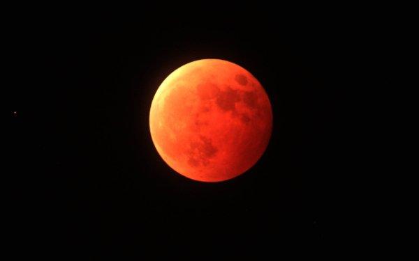 Earth Moon orange Blood Moon HD Wallpaper | Background Image