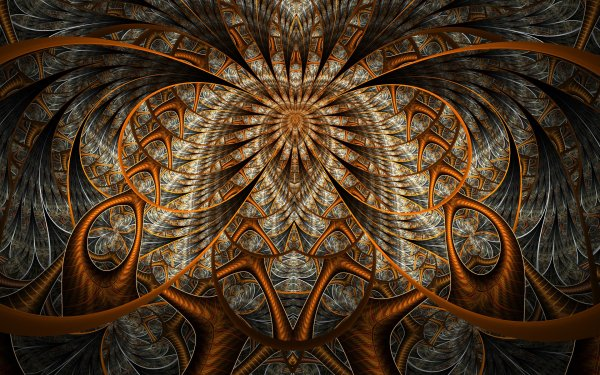 Abstract Fractal Gray Bronze HD Wallpaper | Background Image