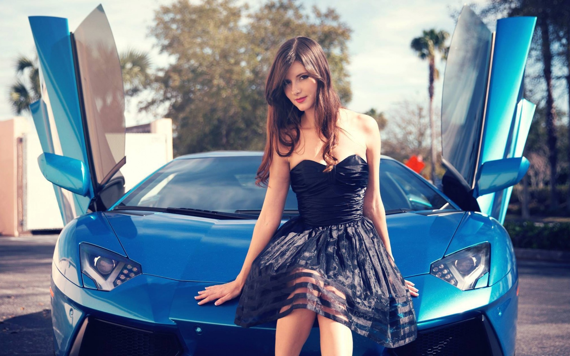 Girls Amp Cars Hd Wallpaper Background Image 1920x1200
