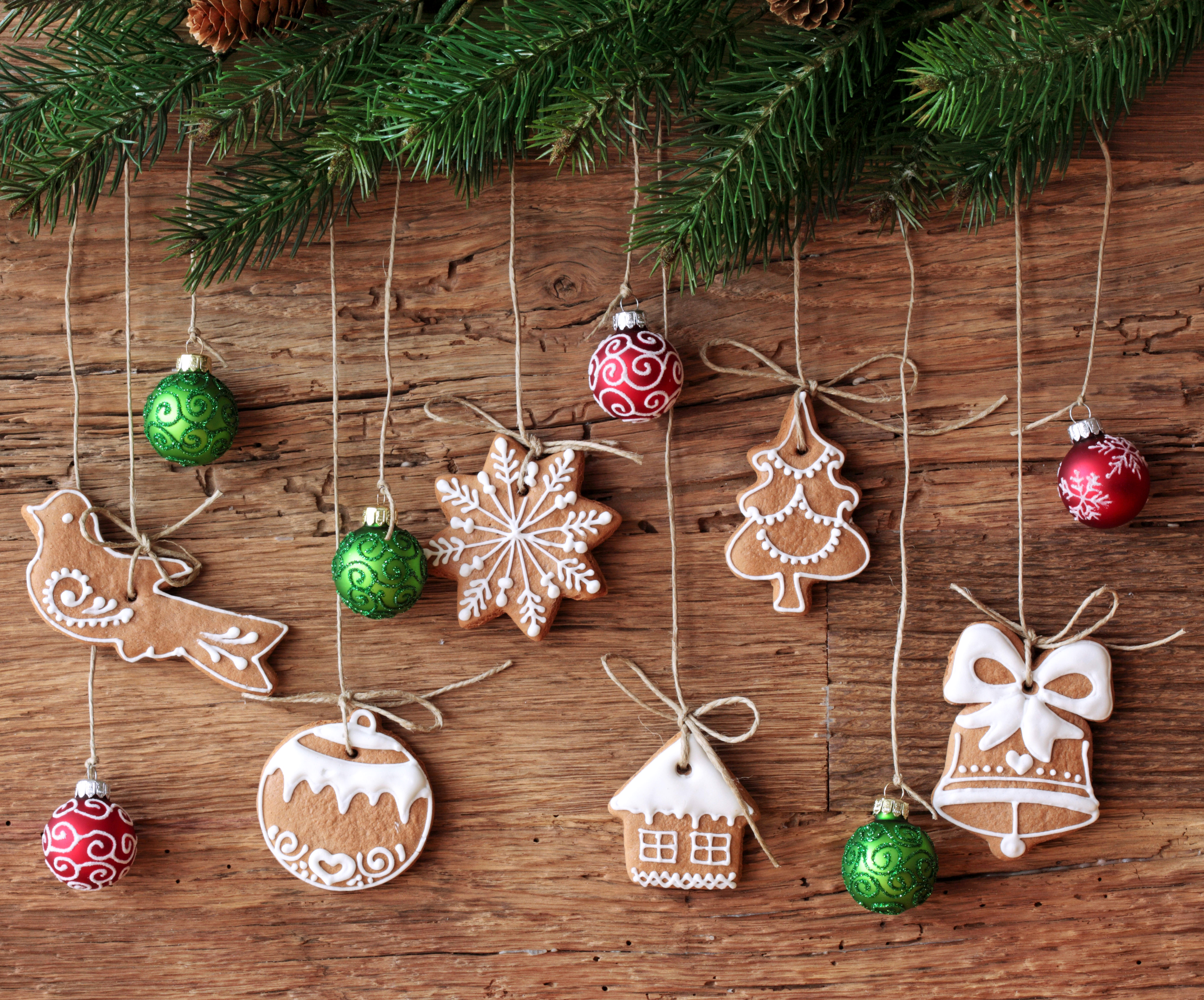 Christmas Cookies Wallpaper.Ornaments And Christmas Cookies 5k Retina Ultra Hd Wallpaper