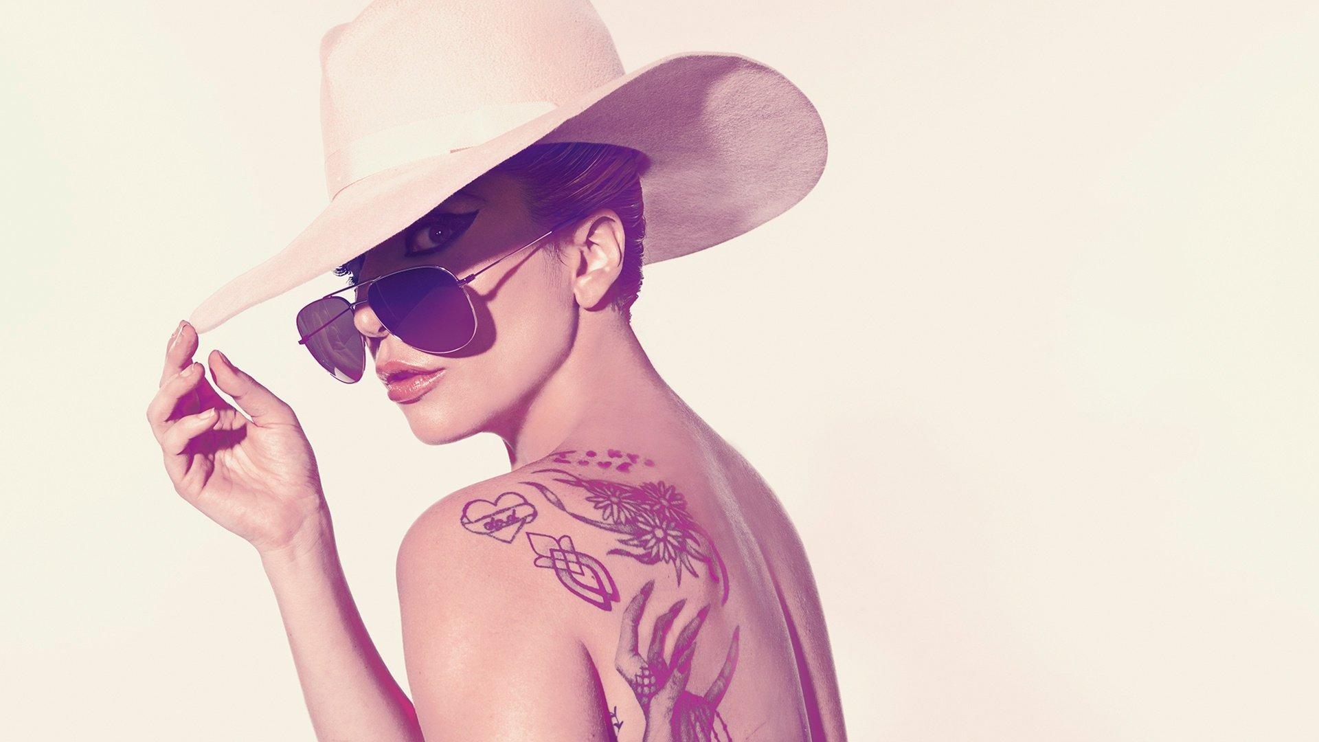 Music - Lady Gaga  Singer American Tattoo Sunglasses Hat Wallpaper