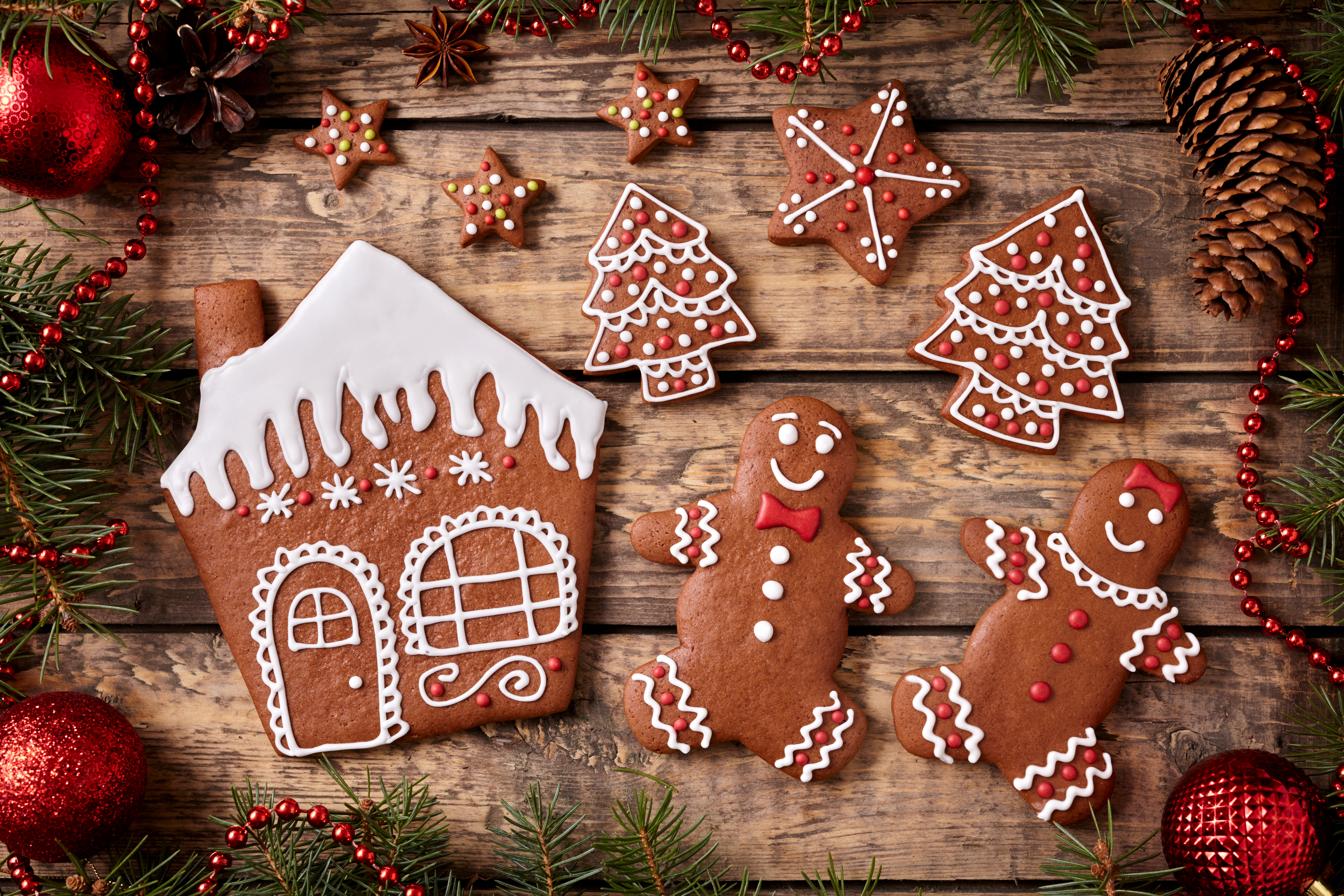 Gingerbread Cookies 5k Retina Ultra HD Wallpaper And Background