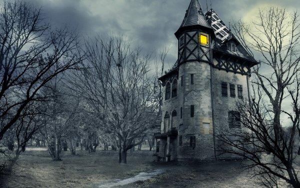 Dark House Castle Gothic HD Wallpaper | Background Image