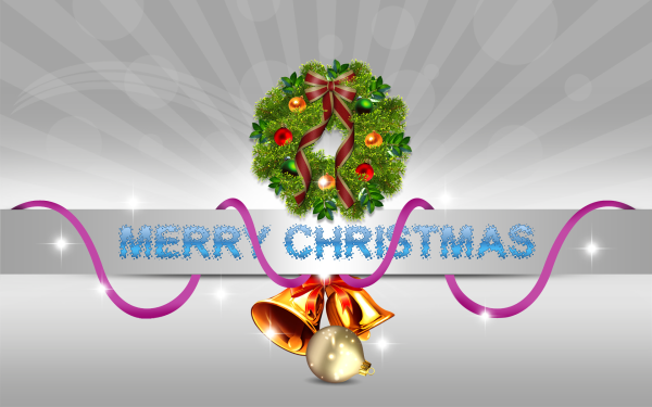 Holiday Christmas Merry Christmas Bell Christmas Ornaments Wreath HD Wallpaper | Background Image