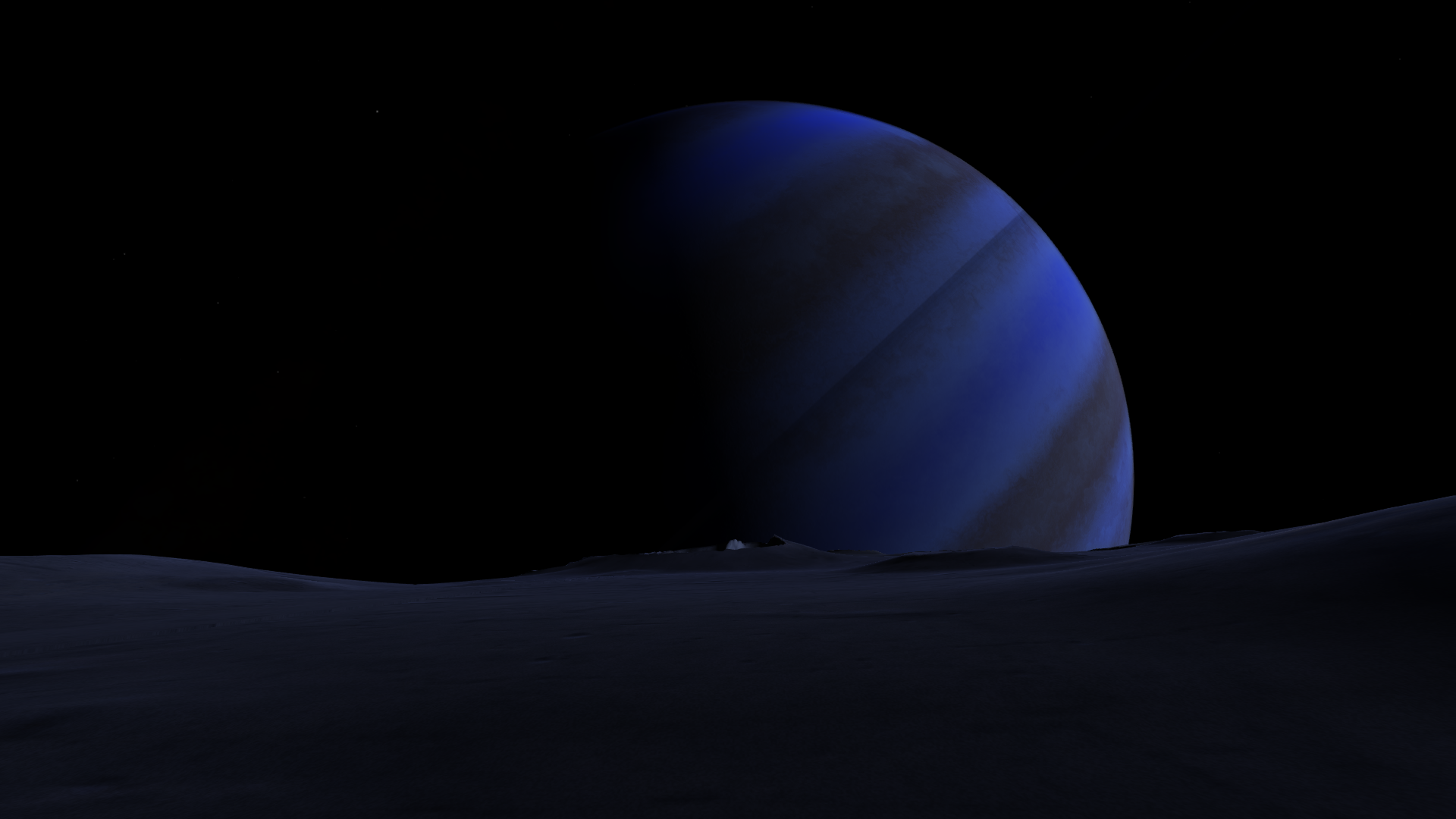 Giant Planets Over The Ocean HD Wallpaper