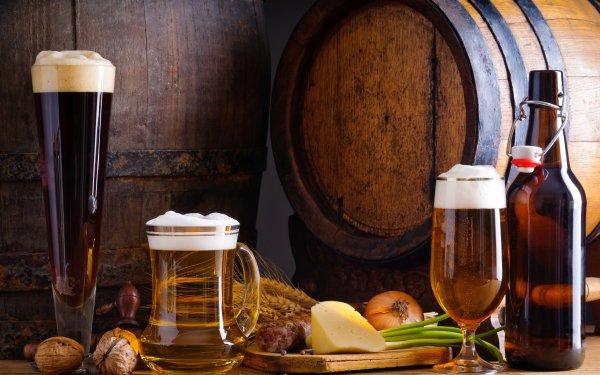 Food Beer Bottle Barrel Alcohol Still Life HD Wallpaper | Background Image
