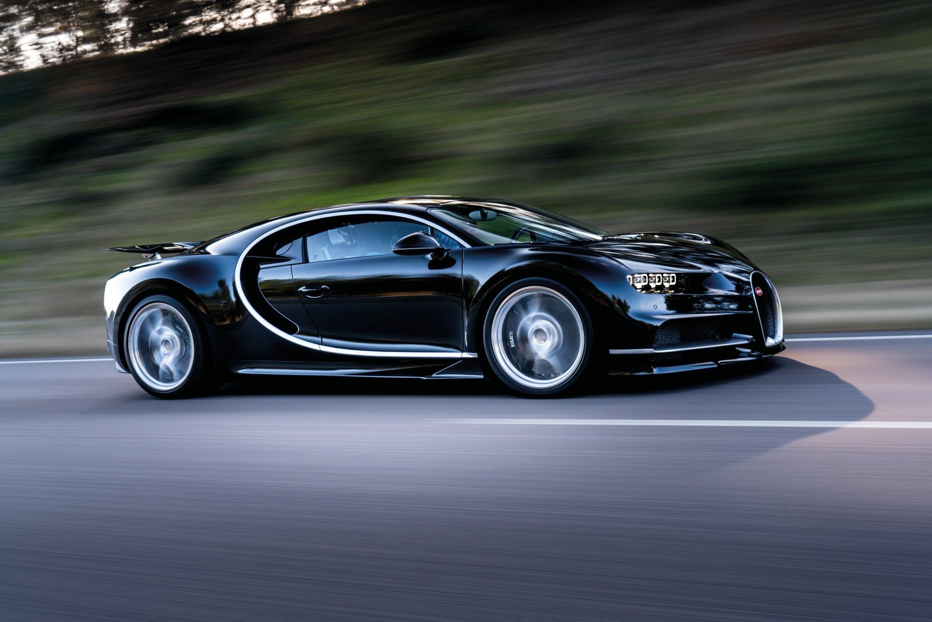 Vehicles - Bugatti Chiron  Bugatti Black Car Car Vehicle Sport Car Supercar Wallpaper
