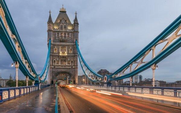 Man Made Tower Bridge Bridges London Road United Kingdom Time-Lapse HD Wallpaper | Background Image