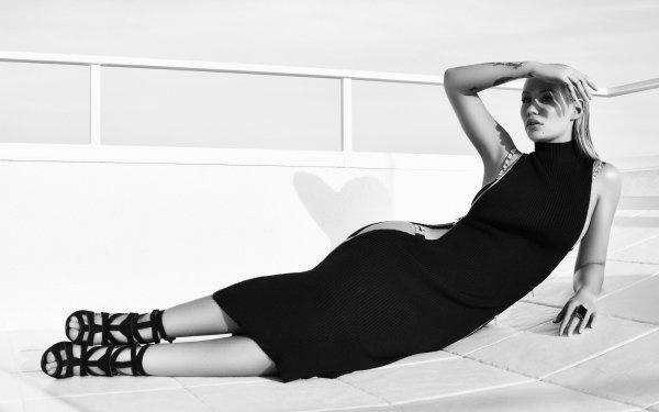 Music Iggy Azalea Singers Australia Australian Singer Rapper Black & White Dress HD Wallpaper | Background Image