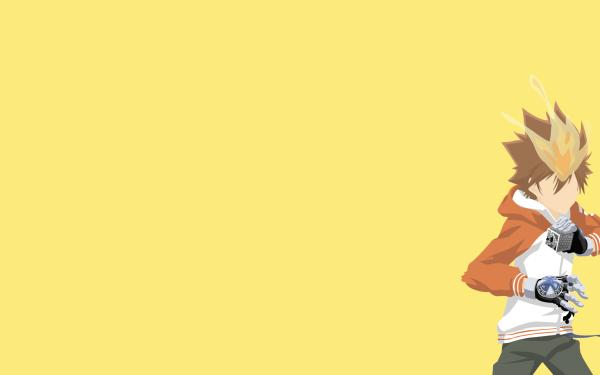 Anime Katekyō Hitman Reborn! Tsunayoshi Sawada Minimalist Fire HD Wallpaper   Background Image