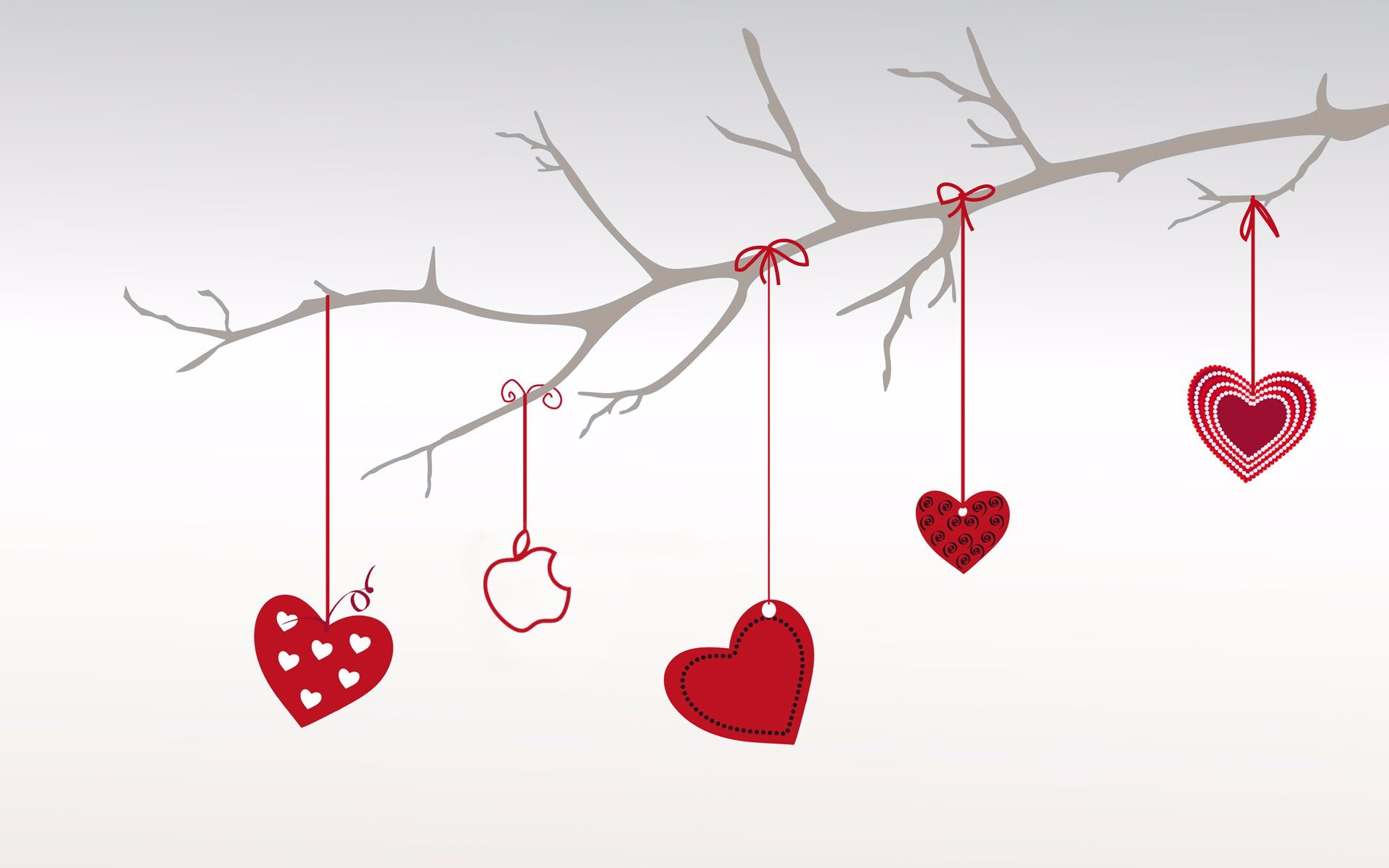 Hanging Hearts Hd Wallpaper Background Image 1920x1200