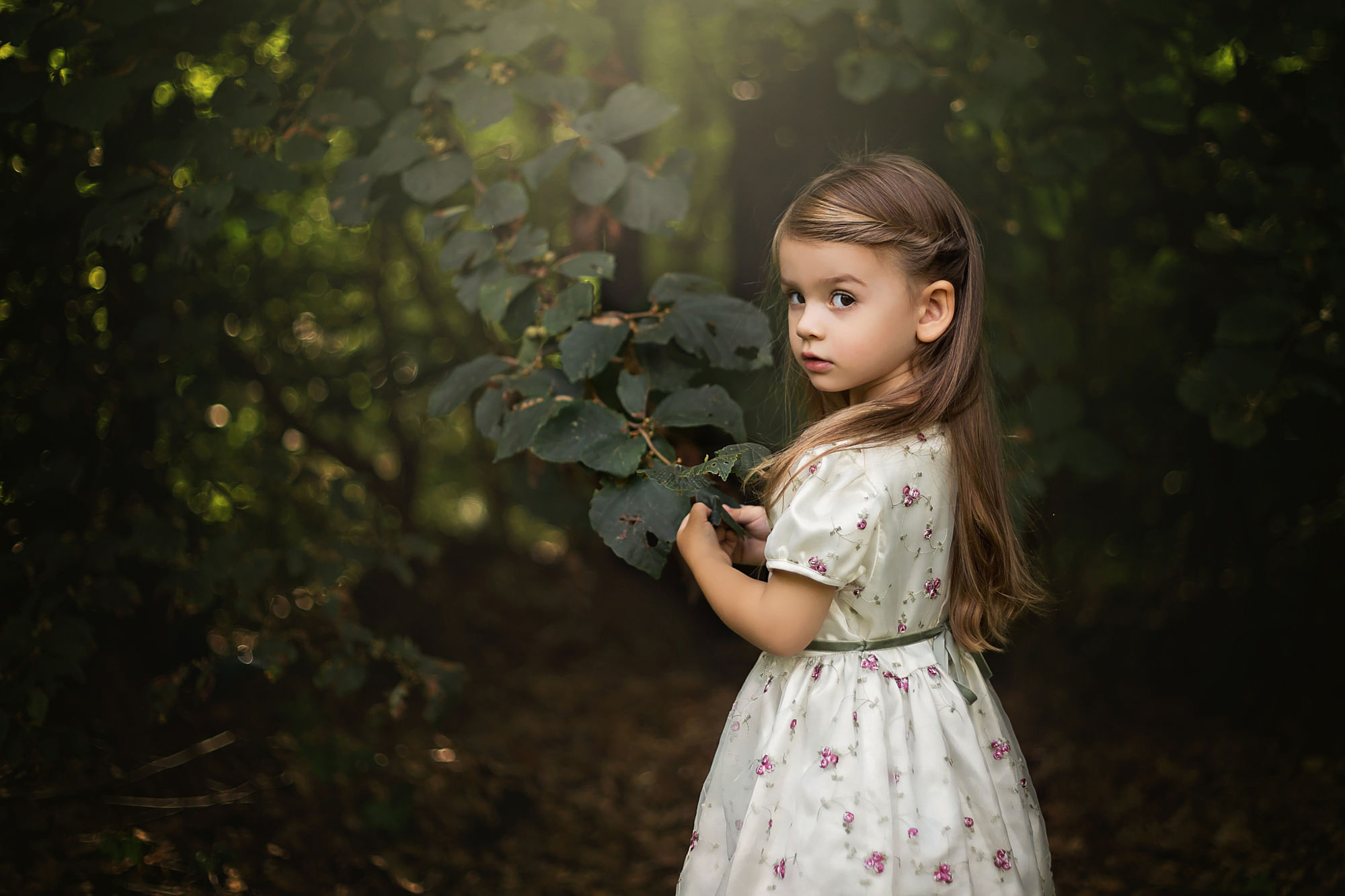 Little girl in the woods hd wallpaper background image - Cute little girl pic hd ...