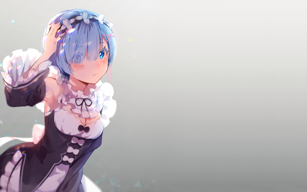 Anime Re:ZERO -Starting Life in Another World- Rem Girl Maid Blue Hair Short Hair Blue Eyes HD Wallpaper | Background Image