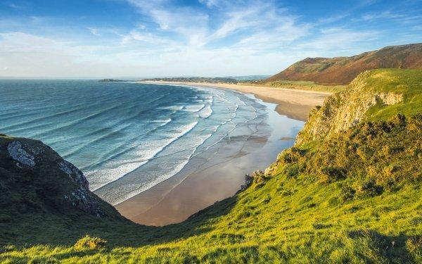 Earth Coastline Nature Beach Horizon Ocean HD Wallpaper | Background Image