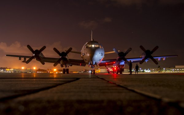 Military Lockheed P-3 Orion Military Aircraft Aircraft Airplane Night Light Navy HD Wallpaper   Background Image