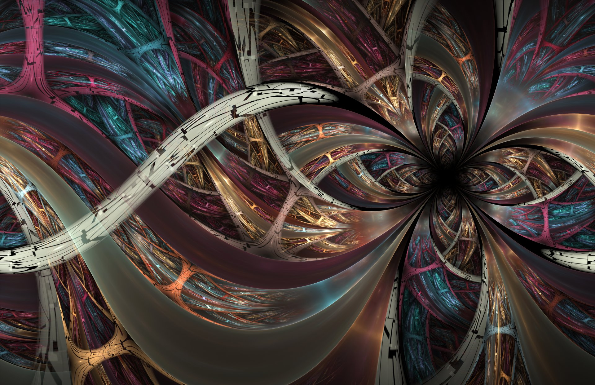 Abstract - Fractal  Abstract Swirl Digital Art Artistic Wallpaper