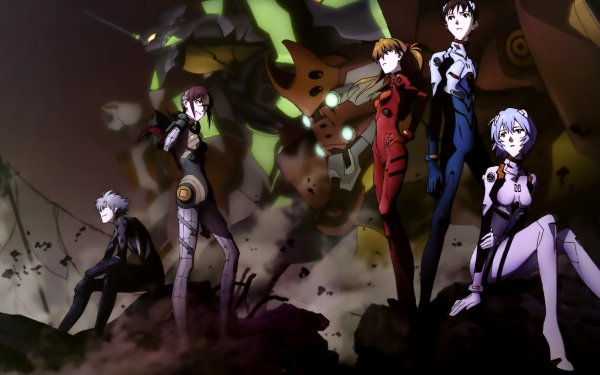 Anime Evangelion: 3.0 You Can (Not) Redo Evangelion Shinji Ikari Asuka Langley Sohryu Rei Ayanami Mari Makinami Illustrious Kaworu Nagisa HD Wallpaper | Background Image