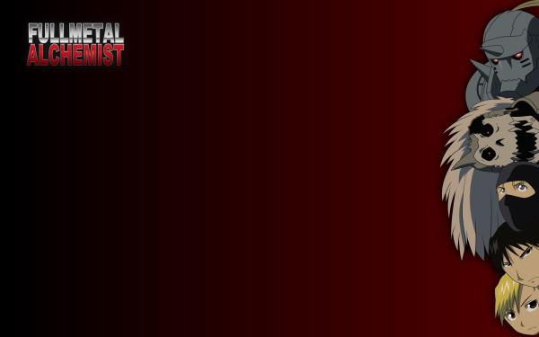 Anime FullMetal Alchemist Fullmetal Alchemist Roy Mustang Riza Hawkeye Alphonse Elric Barry the Chopper HD Wallpaper | Background Image