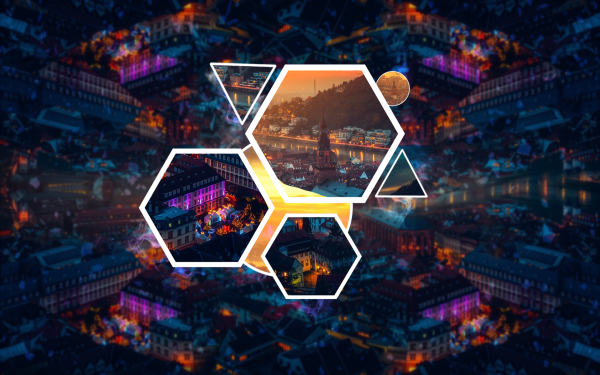 Artistic Polyscape City Night HD Wallpaper | Background Image