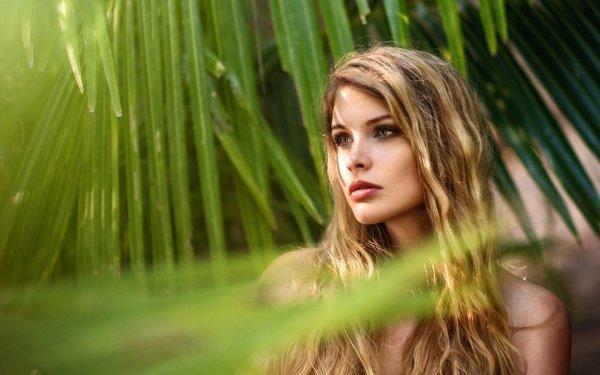 Women Model Models Woman Blonde Green Eyes HD Wallpaper | Background Image