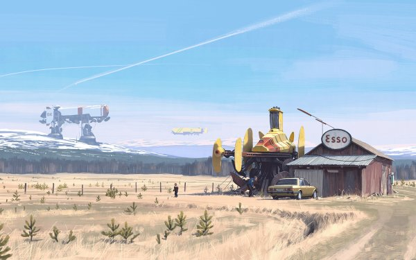 Sci Fi Machine Vehicle Field HD Wallpaper | Background Image