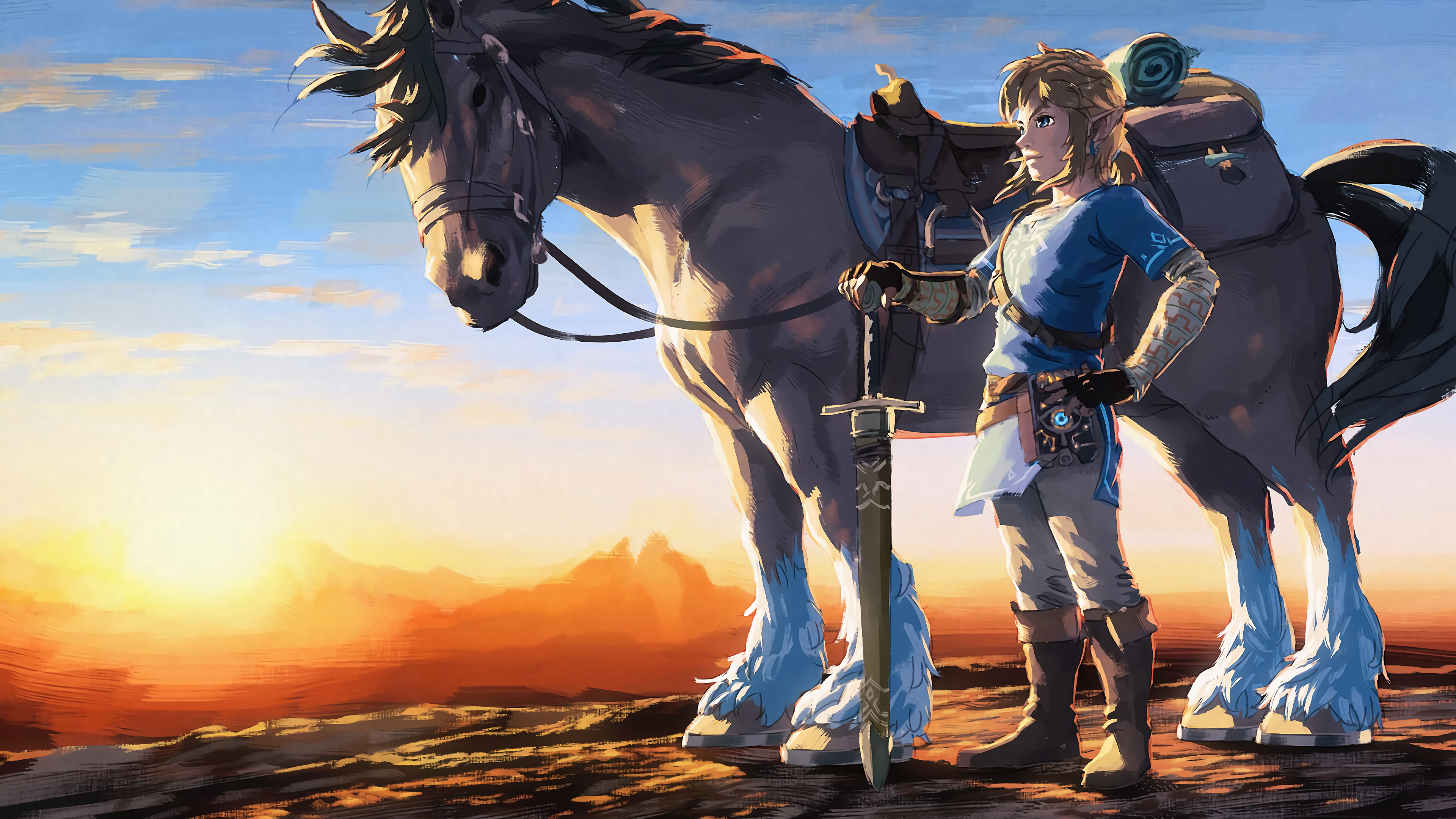 Wii U Screen Savers : The legend of zelda breath wild k ultra fond d