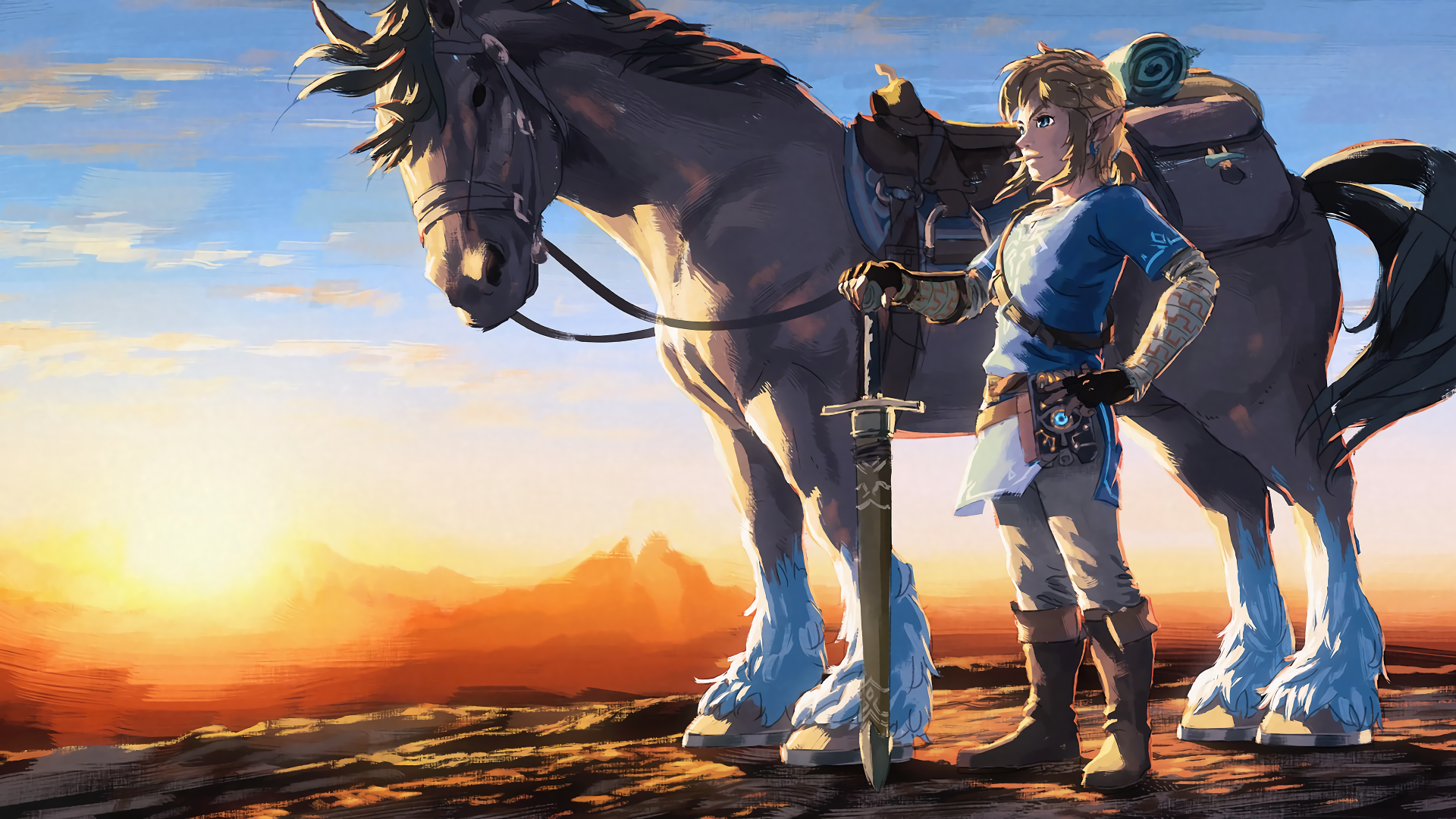 Video Game - The Legend of Zelda: Breath of the Wild  Link Horse Wallpaper