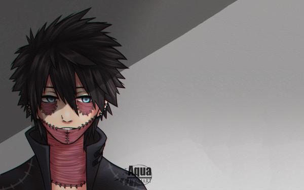 Anime My Hero Academia Dabi Black Hair Blue Eyes Scar Fondo de pantalla HD | Fondo de Escritorio