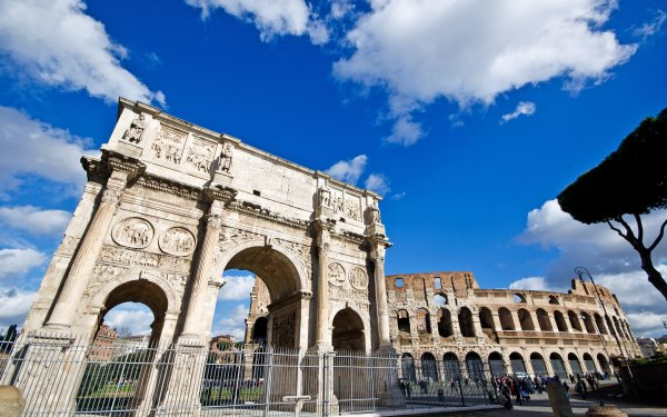 Man Made Arch Of Constantine Monuments Arch Colosseum Columns Architecture Rome Italy Ruin Monument HD Wallpaper | Background Image