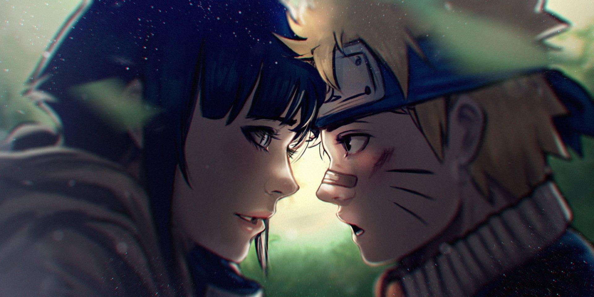 Anime - Naruto  Hinata Hyūga Naruto Uzumaki Wallpaper