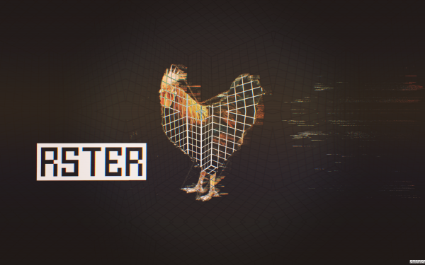 Animal Artistic Rooster Grid Glitch Art HD Wallpaper | Background Image