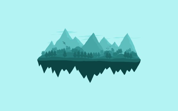 Artistic Mountain Vector Minimalist Landscape HD Wallpaper | Background Image